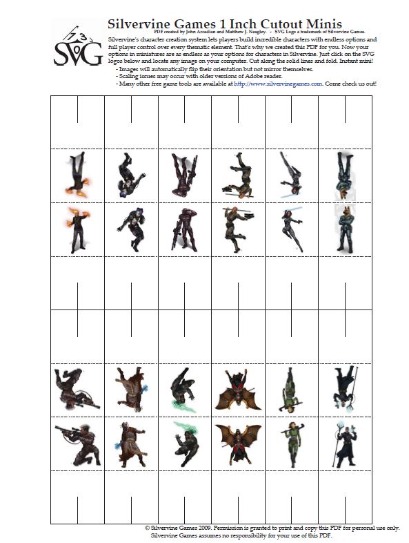 photograph regarding Printable Paper Miniatures titled Employing Paper Minis and other Props in just Your Sport Position